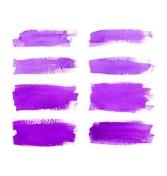 Set watercolor stripes vector