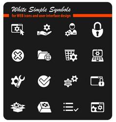 settings icon set vector image