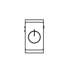 smartphone on off button icon vector image