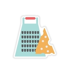 Stylish paper sticker on a white background Grater vector