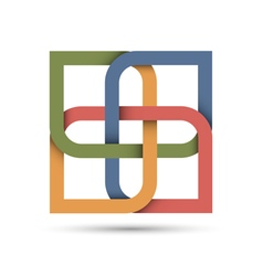 Stylized abstract icon for design vector image