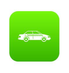 taxi icon digital green vector image
