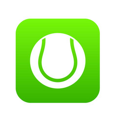 tennis ball icon digital green vector image