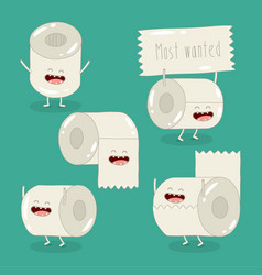 Toilet paper roll most wanted graphics vector