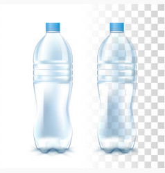 transparent plastic bottle vector image