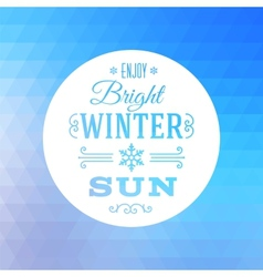Triangle Abstract Winter Background vector image