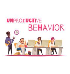 Unproductive behavior concept vector