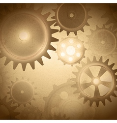 Vintage gear system vector image