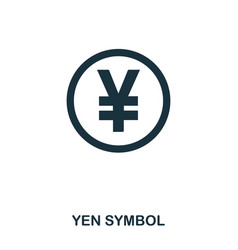 yen symbol icon mobile app printing web site vector image
