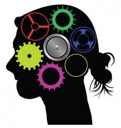 brain mechanism vector image