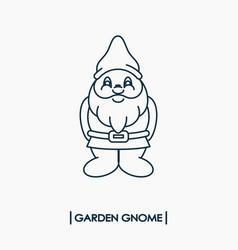 garden gnome icon vector image vector image