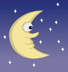 Half moon cartoon vector