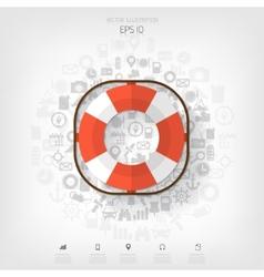 Lifebuoy web iconBackground wit application vector image vector image