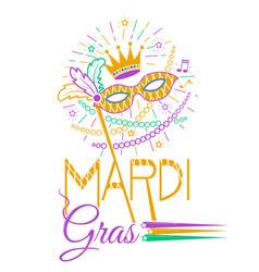 mardi gras party mask vector image