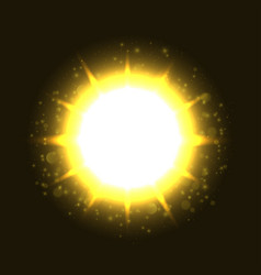 powerful bright explosion vector image