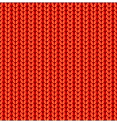 Red knitted seamless pattern vector image