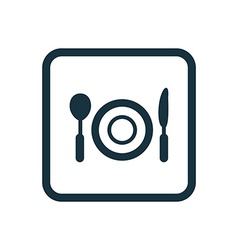 restaurant icon Rounded squares button vector image vector image