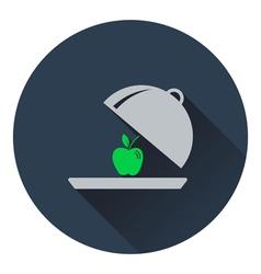 Icon of Apple inside cloche vector image vector image