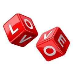 love dice vector image