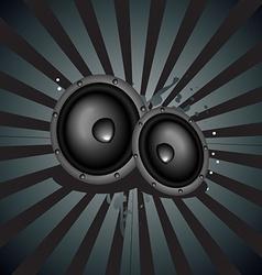 Music speaker background vector image vector image