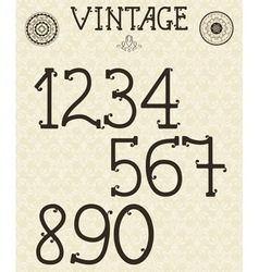 Retro Self Made numbers vector image vector image