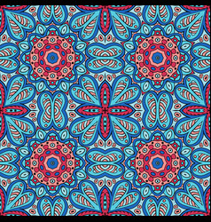 seamless ornament colorful background ethnic vector image