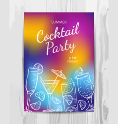 birthday party invitation card cocktail party vector image vector image