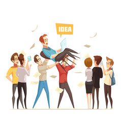 crowdfunding design concept vector image