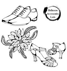 dance line ballroom latina accessories vector image