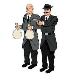 Detective and thief man cartoon design vector image