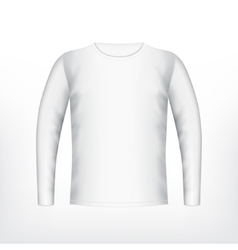 Mens white t-shirt vector