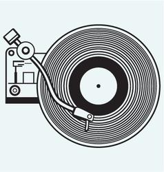 Record player vinyl record vector image vector image