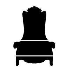 throne the black color icon vector image vector image