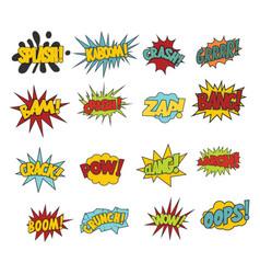 comic sound effect boobles set vector image