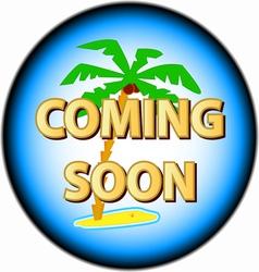 Coming soon logo vector