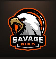 savage bird eagle sports logo vector image