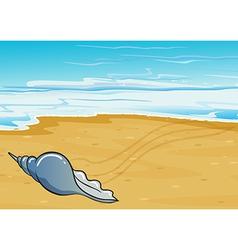 A shell at seashore vector