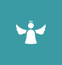 angel icon simple winter sign vector image