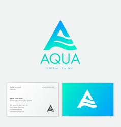 Aqua a monogram cosmetics clothes spa water vector