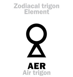 Astrology aer air trigon vector
