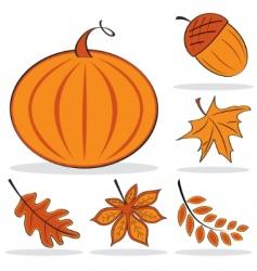 autumnal icon set vector image