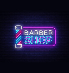 barber shop sign design template barber vector image