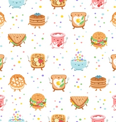 Best breakfast ever seamless pattern vector