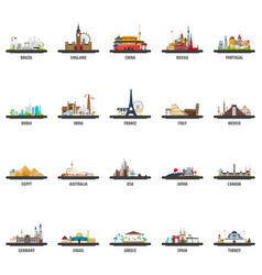 Big set of travel locations vacation and trip vector
