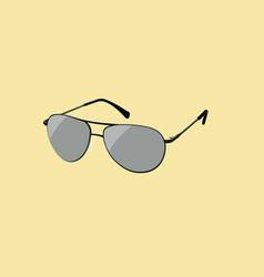 Black aviator sun glasses vector