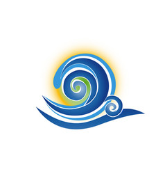 blue spiral abstract wave vector image