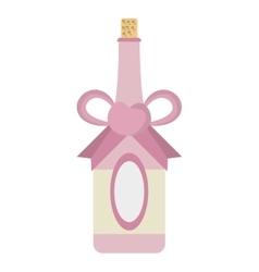 bottle celebration wedding ribbon and heart vector image