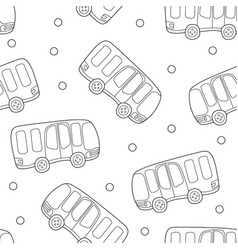 buses hand drawn backdrop black and white vector image