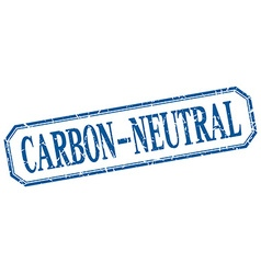 Carbon-neutral square blue grunge vintage isolated vector