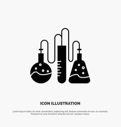 Chemical dope lab science solid glyph icon vector
